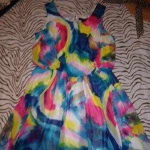 Ashley Stewart Multicolored Dress